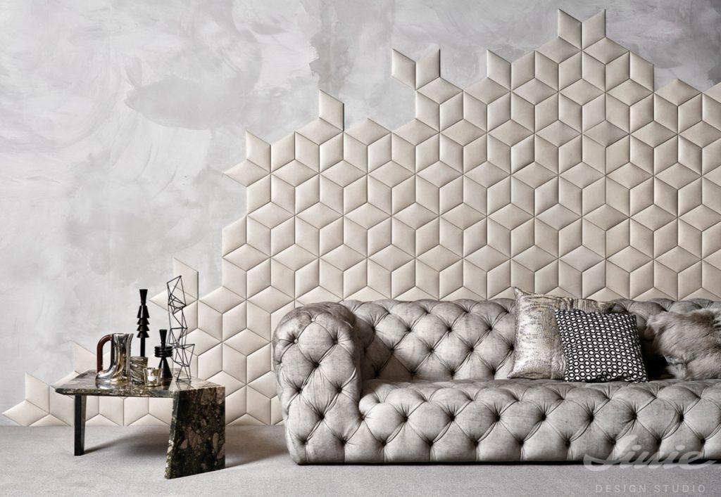 Krémový geometrický obklad na stěny StudioArt
