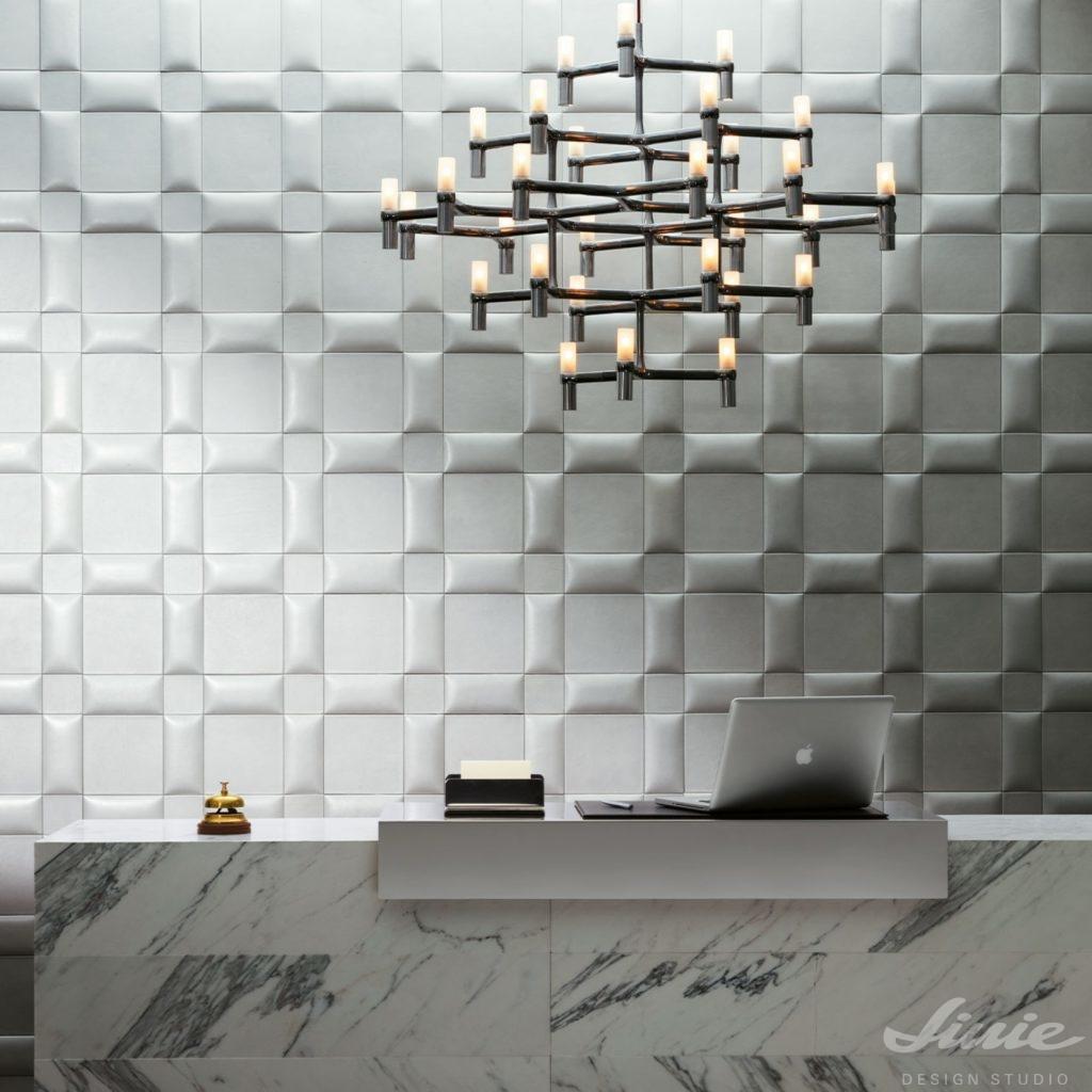 Bílá dekorativní stěna StudioArt