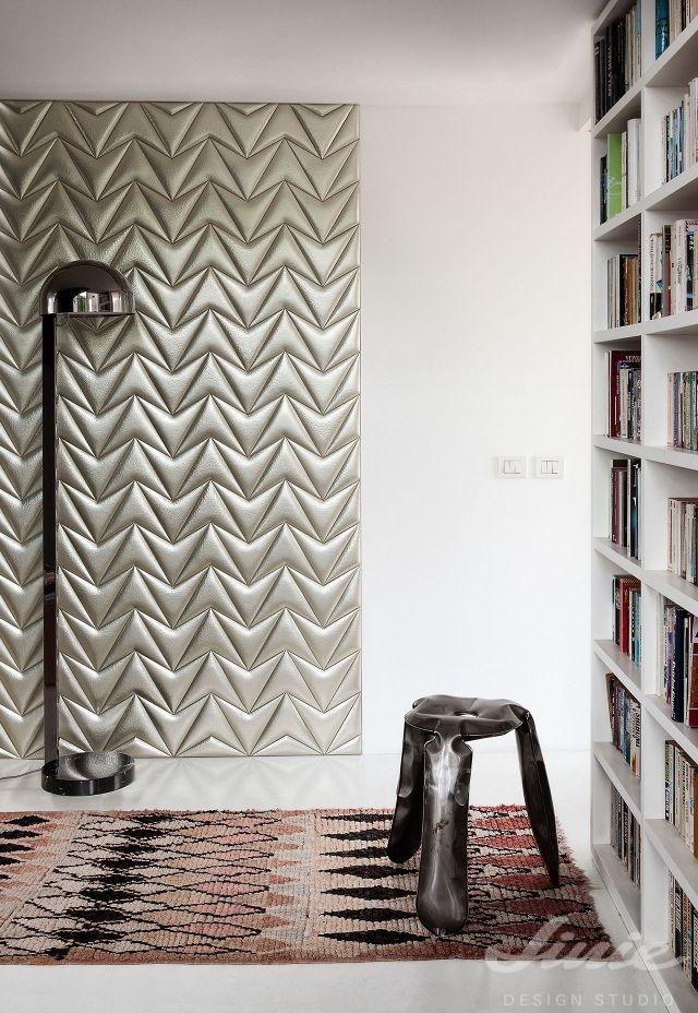 Luxusní stříbrné dekorativní stěny StudioArt