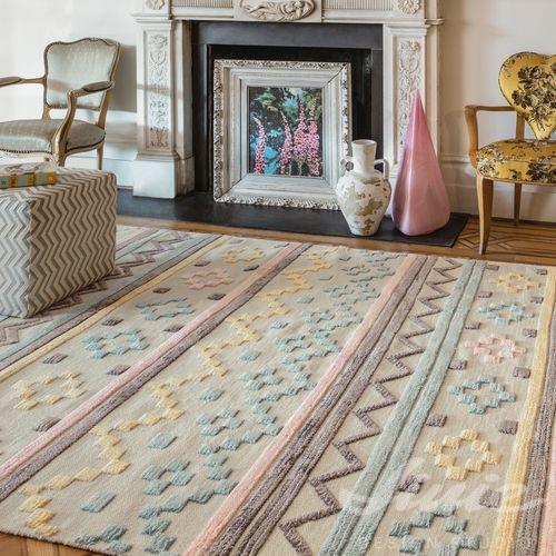 dívčí trendy koberec v pudrových barvách