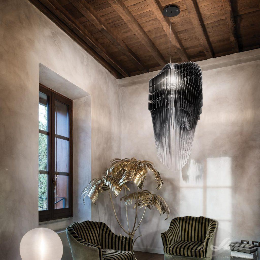 čermé luxusní závěsné svítidlo Slamp Avia Pendel black