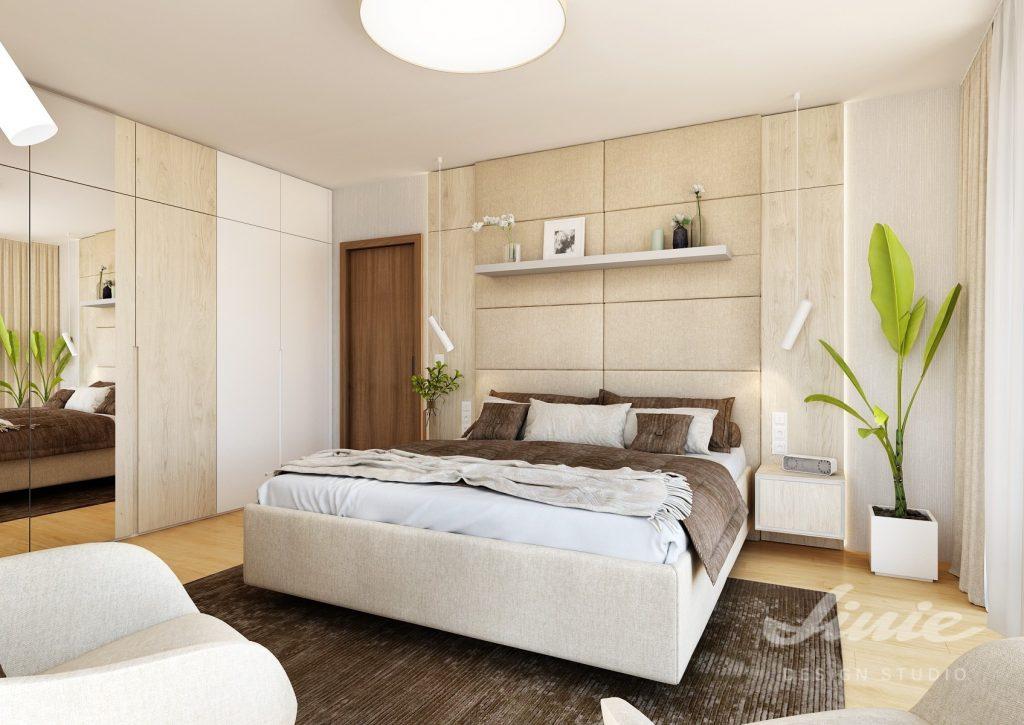 Luxusní moderní béžová ložnice