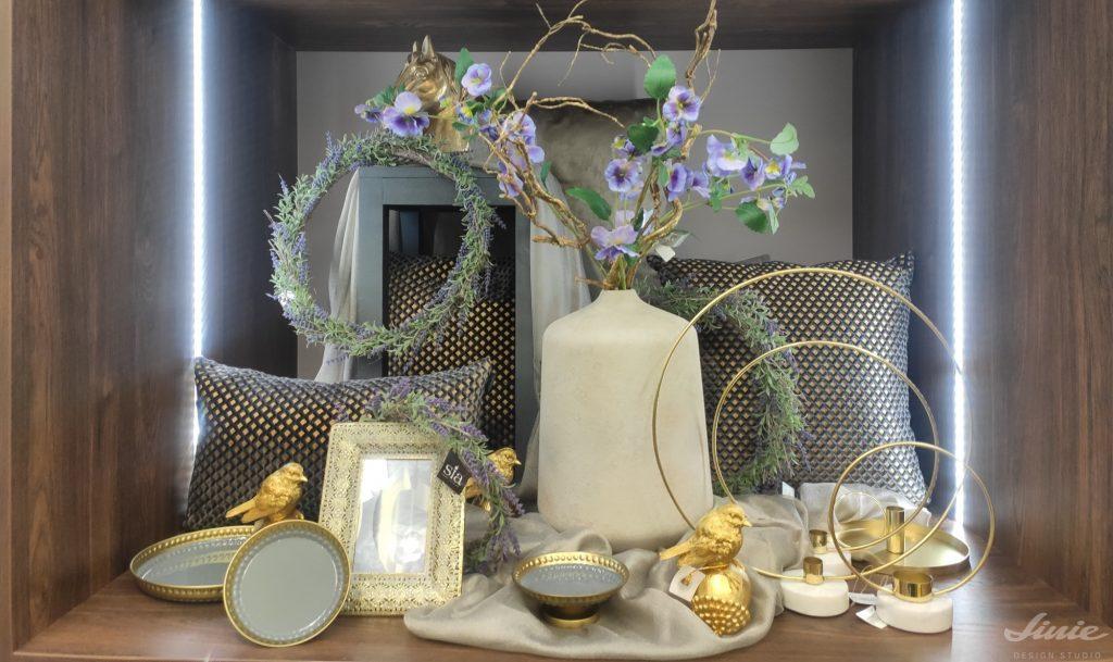 Dekorace Jarní umělé květy