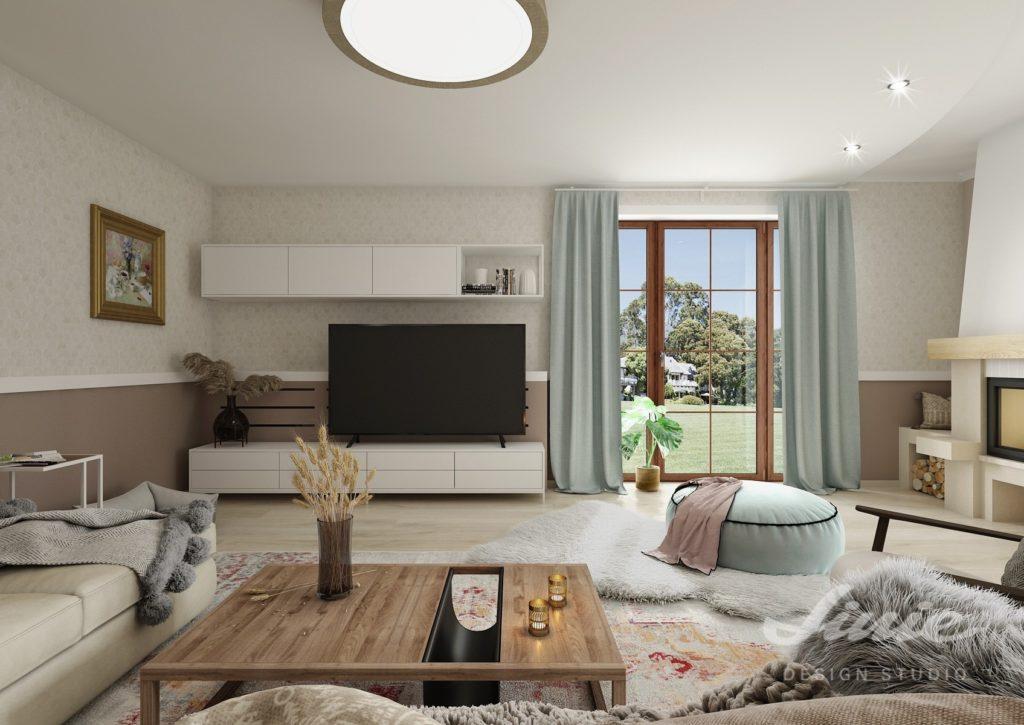 Moderní Provance obývací pokoj