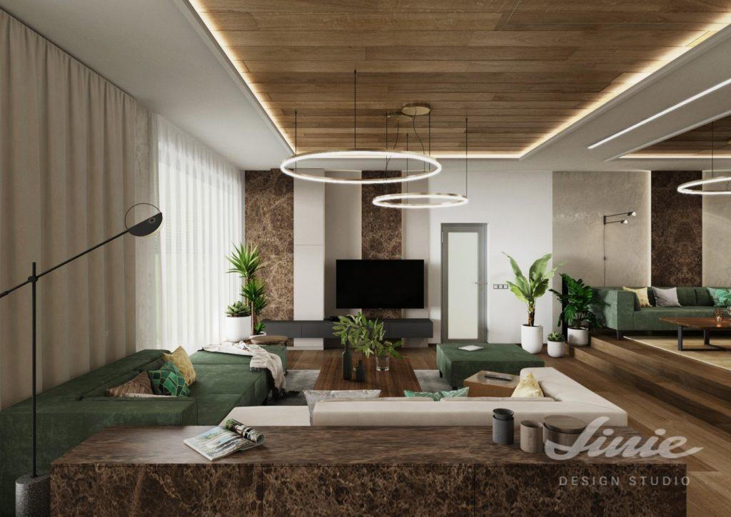 Moderní obývací pokoj mramor