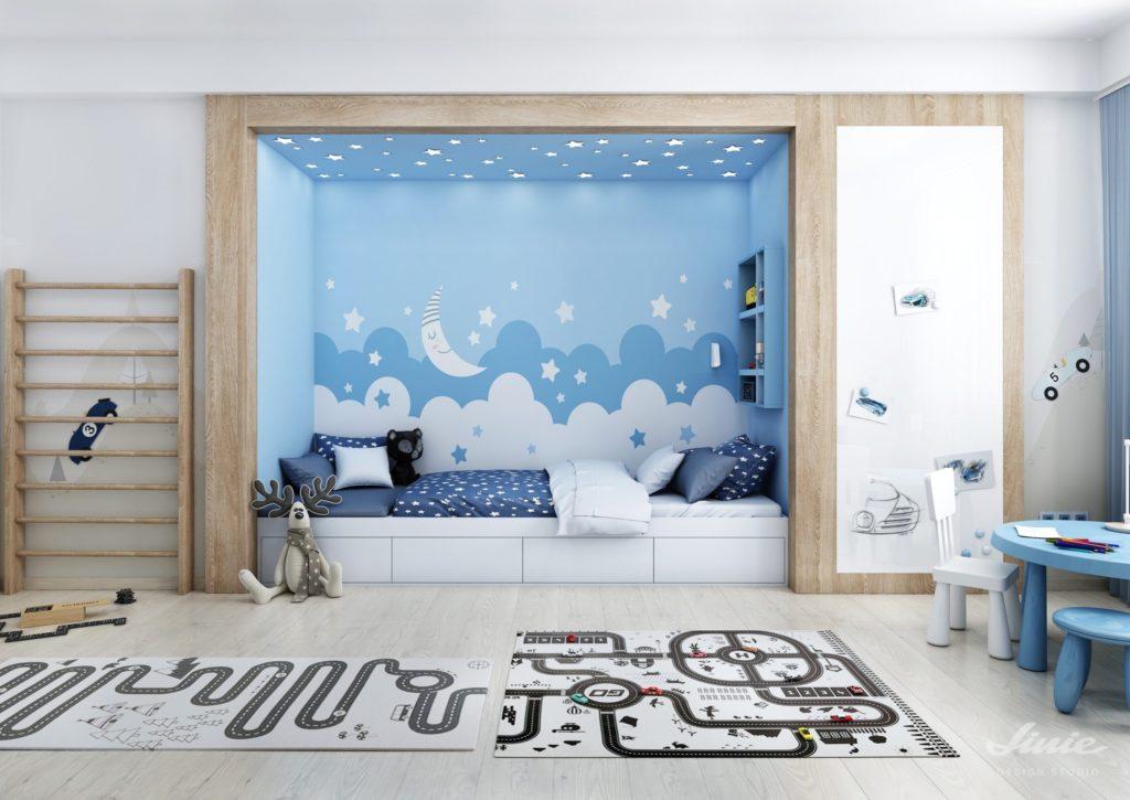Dětský chlapecký pokoj postel