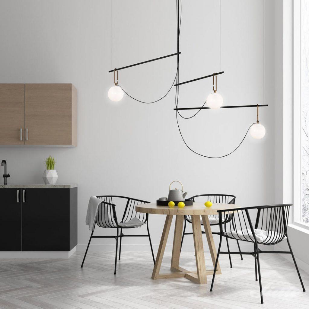 závěsné světlo artemide minimalistické