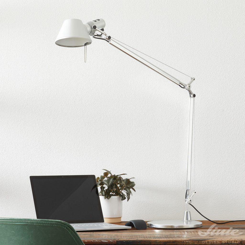 artemide tolomeo stolni lampa led bílá white