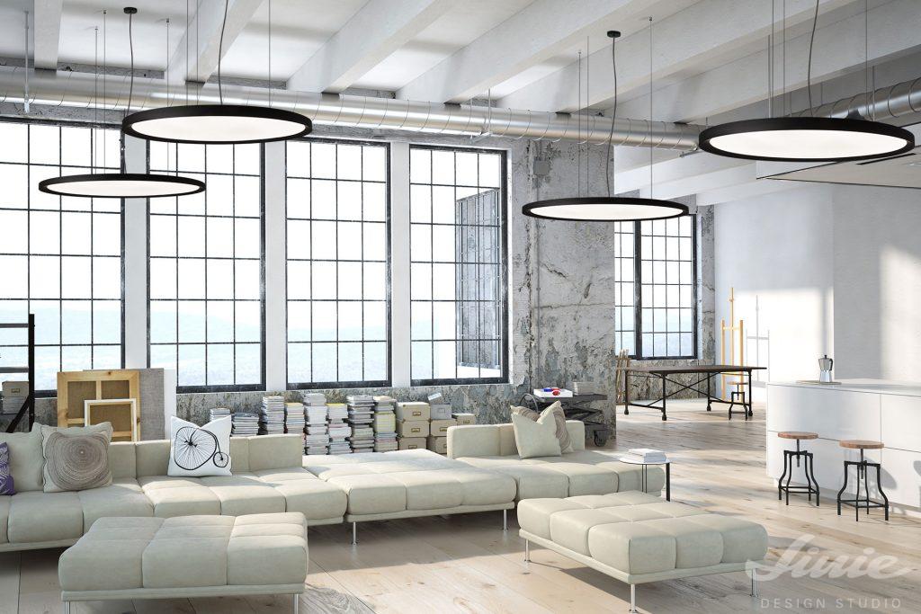 Bina industriální osvětlení kruhové světlo závěsné