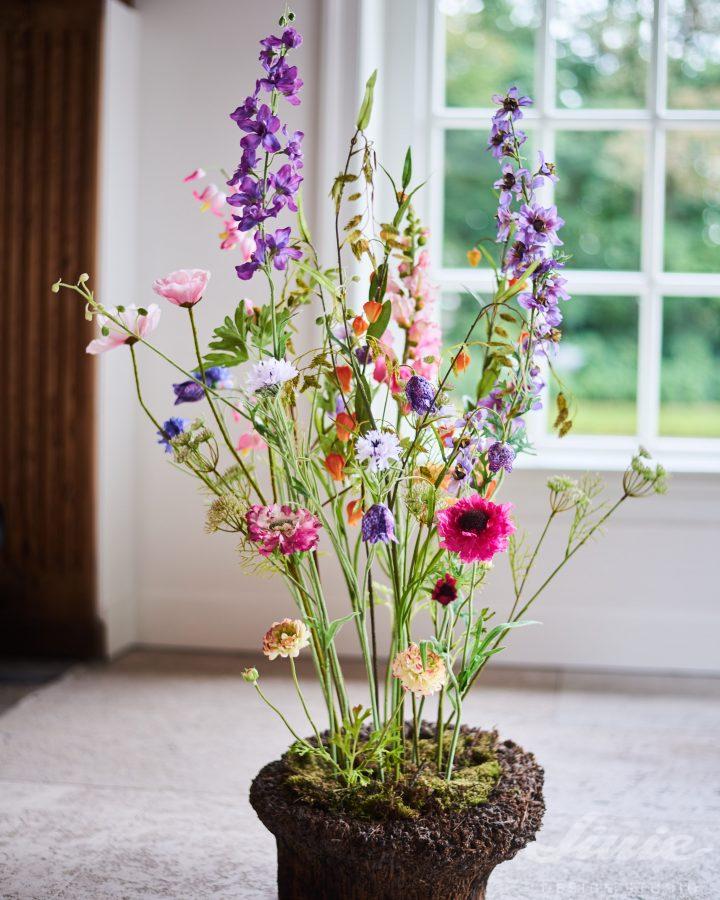 květinová dekorace z lučních květů silk-ka