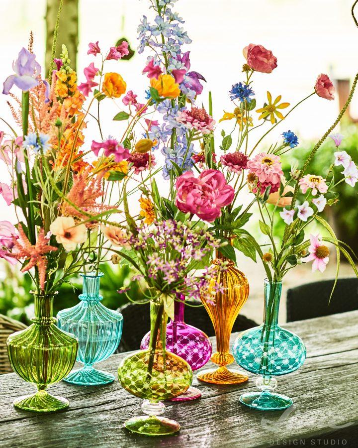 umělé luční květy do vázy silk-ka