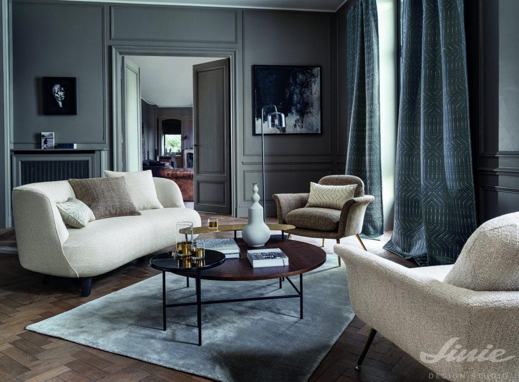 Luxusní závěsy do obývacího pokoje casamance alma