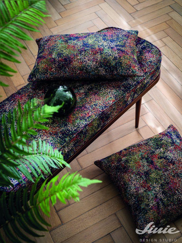 luxusní čalounická látka na solitérní nábytek casamance cybele