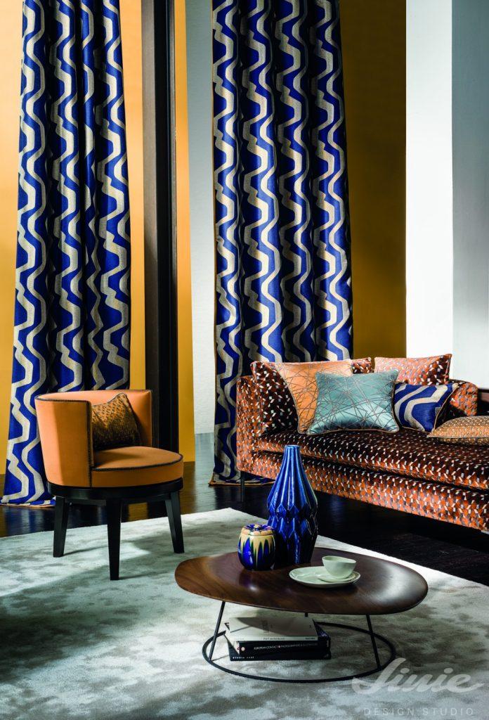 luxusní kolekce bytový textil casamance iki
