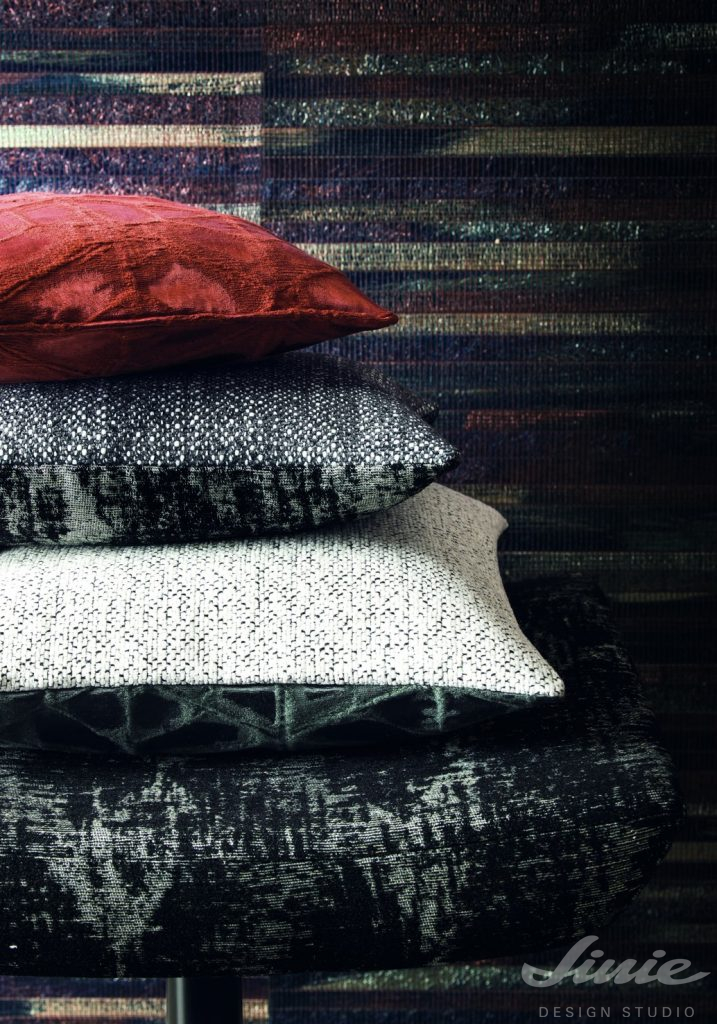 luxusní polštáře na sedačku casamance palmares