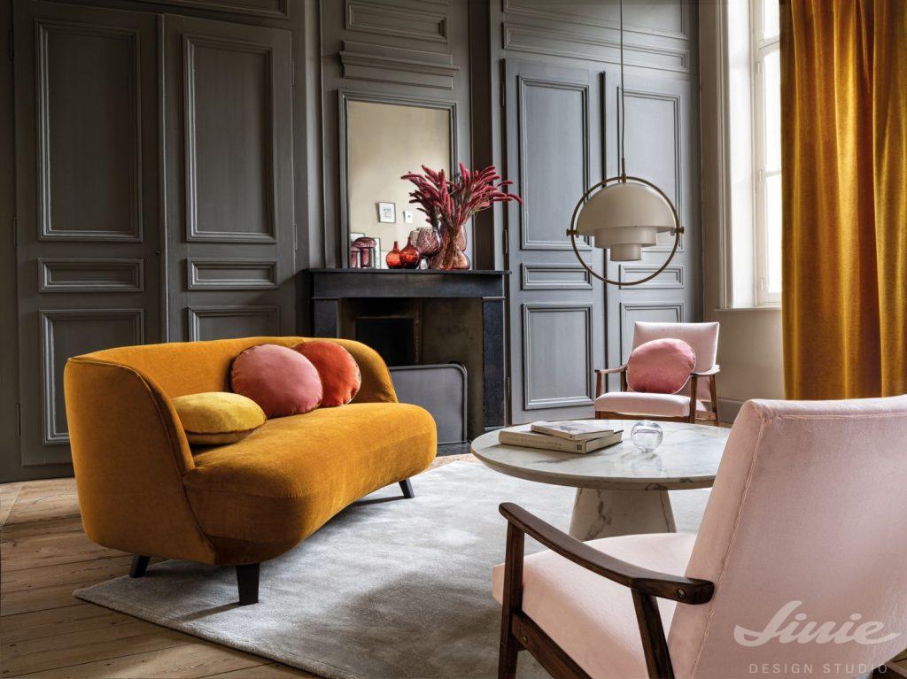 luxusní sametová sedačka čalouněná casamance tribeca