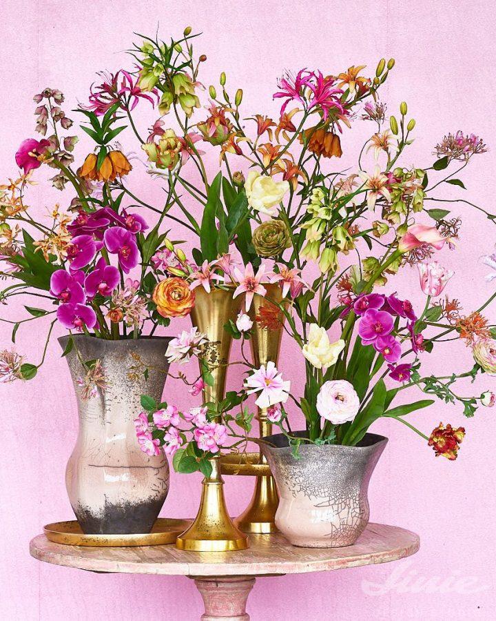 umělá květinová dekorace do vázy silk-ka
