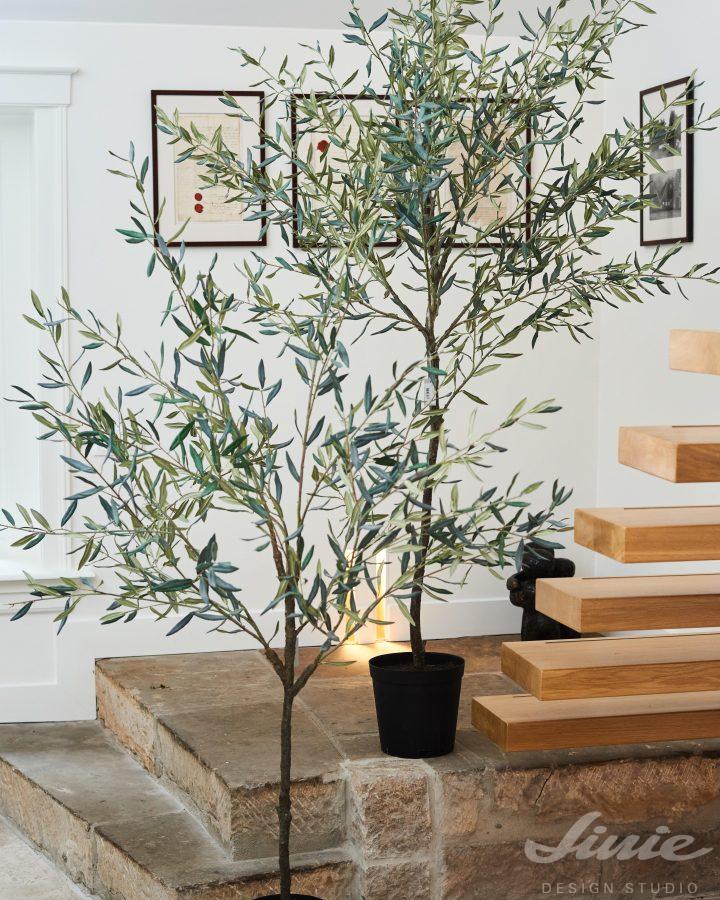 Vysoké umělé rostliny olivovník silk-ka