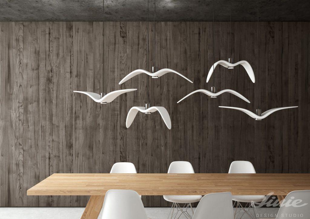 designové světlo ptáci do dětského pokojenight birds boris klimek brokis