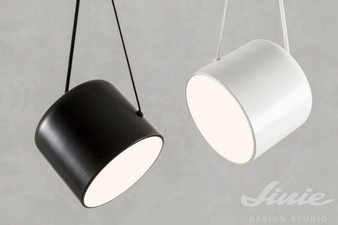 redo group černé bílé kovové světlo závěsné