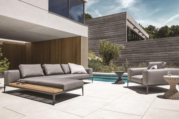moderní čalounění nábytek k bazénu