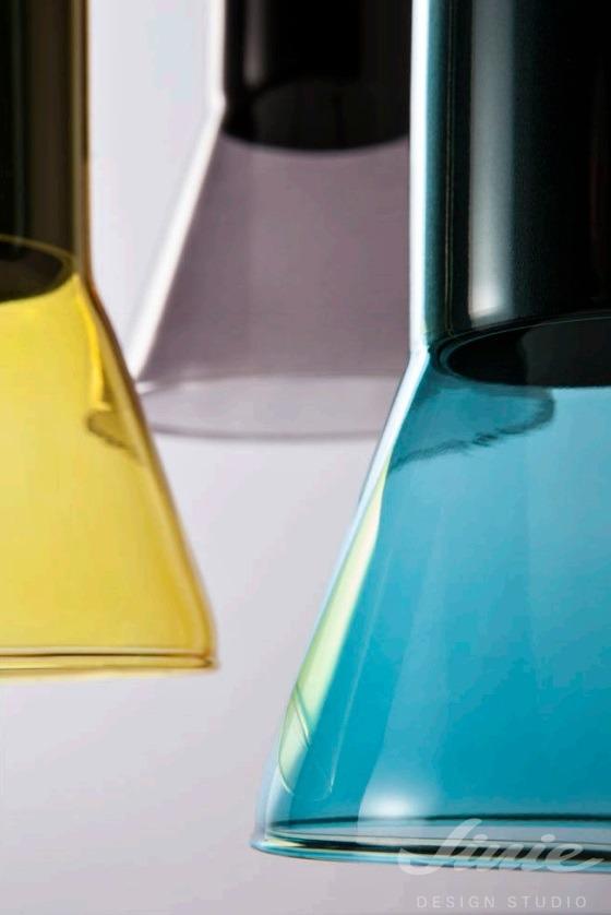 barevné skleněné svítidlo redo group jano