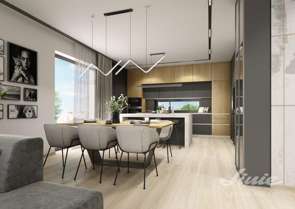 Kuchyně s jídelnou moderní černá