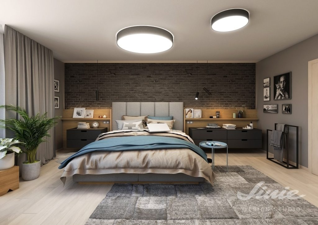 návrh Pánská ložnice inspirace