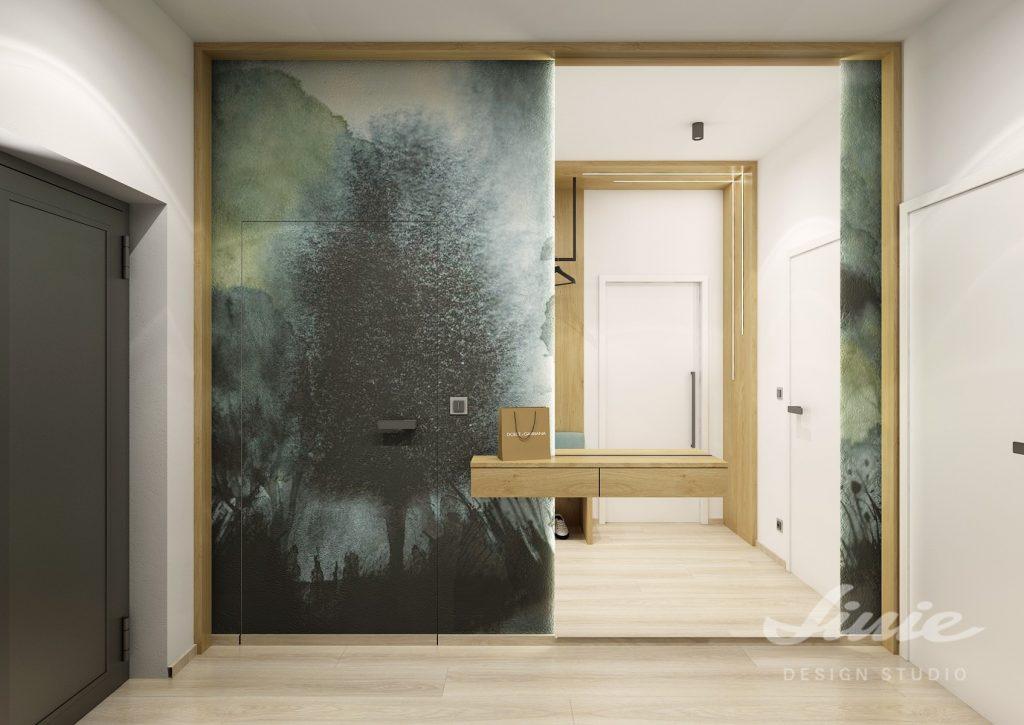 Luxusní designová tapeta do předsíně
