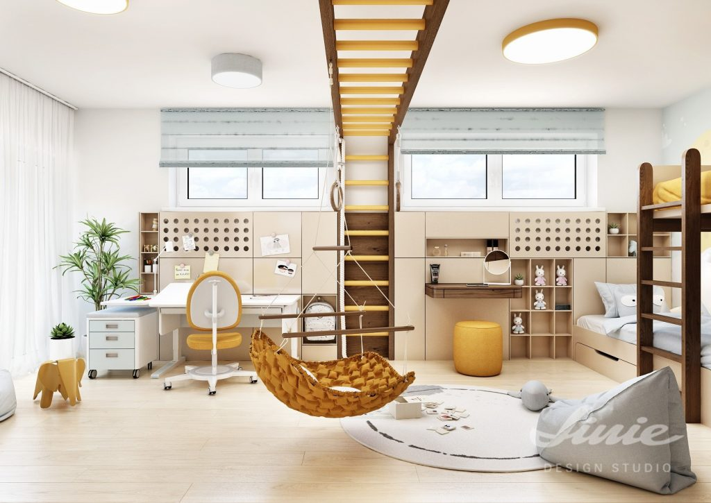 Dětské pokoj s rostoucím nábytkem