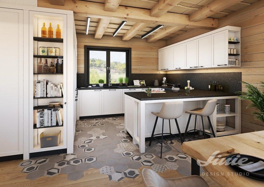 Roubenka kuchyňský prostor